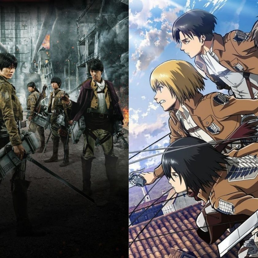Live Action vs Anime Attack on Titan