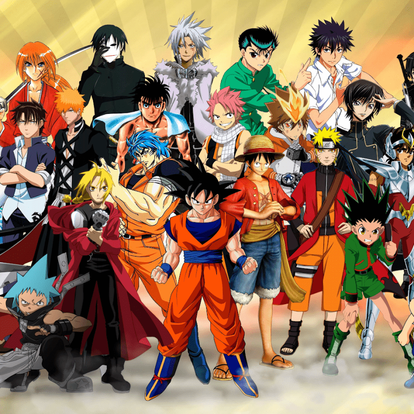 Group of Anime Protagonists